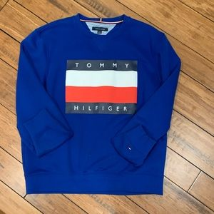 Tommy Hilfiger Blue Logo Flag Sweatshirt (L/G)